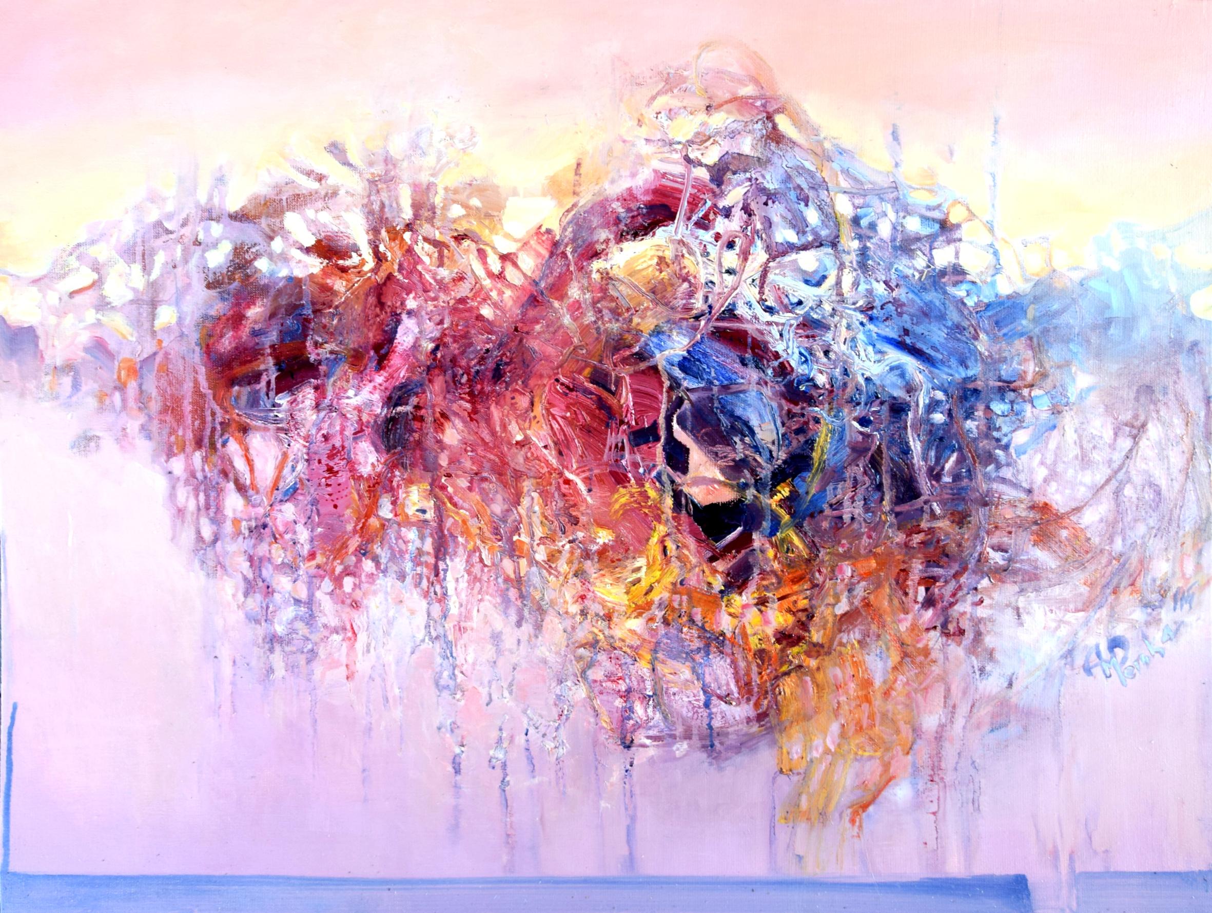 """Anna Daria Merska, """"Wewnętrzna przestrzeń V"""", olej na płótnie, 60 x 80 cm, 2015, cena: 3100 zł"""