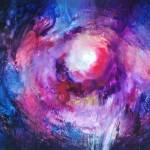 """Anna Daria Merska, """"Wewnętrzne Słońce XIX"""", olej na płótnie, 100 x 120 cm, 2012, cena: 4500 zł"""
