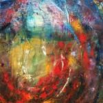 """Anna Daria Merska, """"Wewnętrzne Słońce XXX"""", olej na płótnie, 65 x 92 cm, 2011, cena: 3900 zł"""