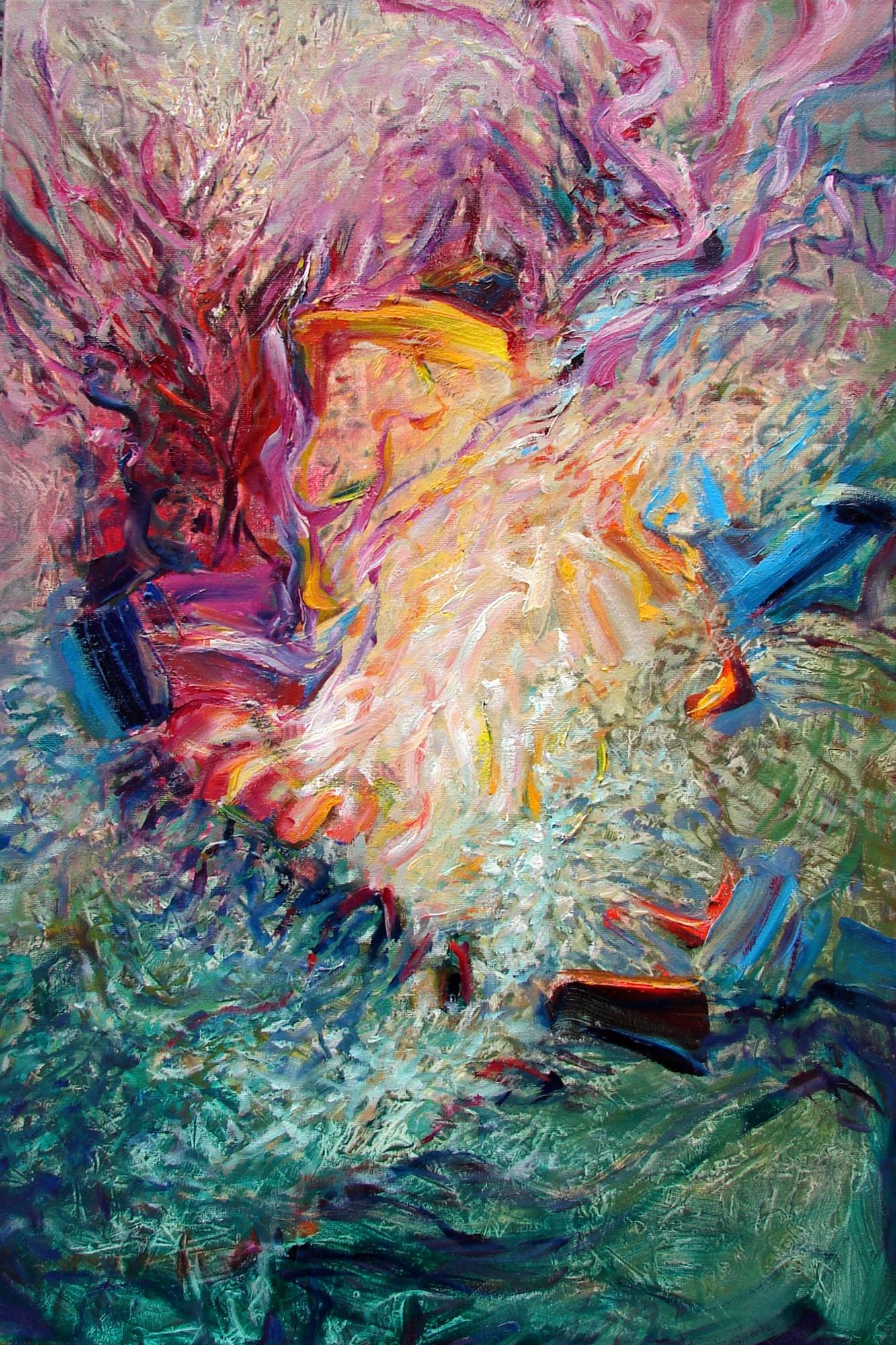"""Anna Daria Merska, """"Synergia III"""", olej na płótnie, 60 x 40 cm, 2014, cena: 1900 zł"""