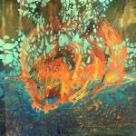 """Anna Daria Merska, """"Wewnętrzna przestrzeń XX"""", olej na płótnie, 22 x 22 cm, 2016, cena: 780 zł"""