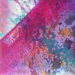 """Anna Daria Merska, """"Wewnętrzna przestrzeń XXI"""", olej na płótnie, 18 x 18 cm, 2016, cena: 650 zł"""