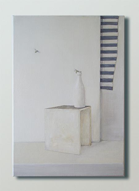"""Anu Trzepańska, """"Off White"""", olej na płótnie, 55 x 38 cm, cena: 1 100 zł"""