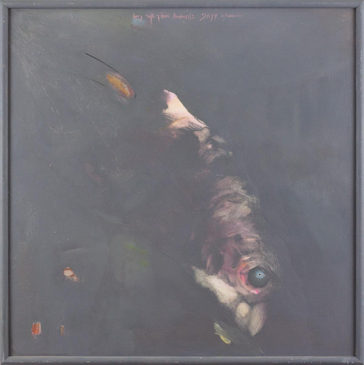 Paweł Podlewski, 'Very Sick Pink Animals', olej na płótnie, 80 x 80 cm, cena: 1 800 zł