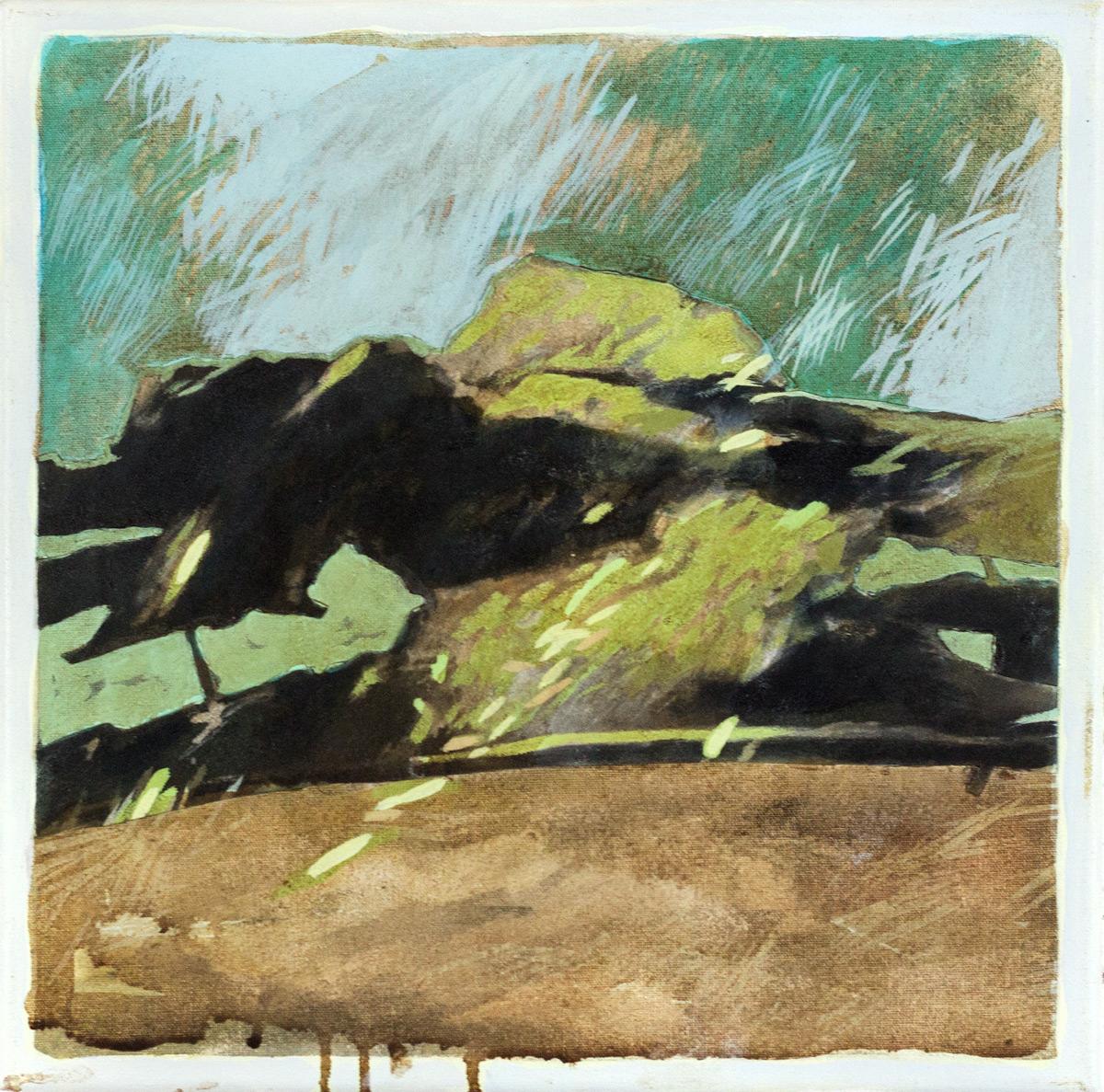 Paweł Podlewski, untitled, technika mieszana na płótnie, 30 x 30 cm, cena: 700 zł