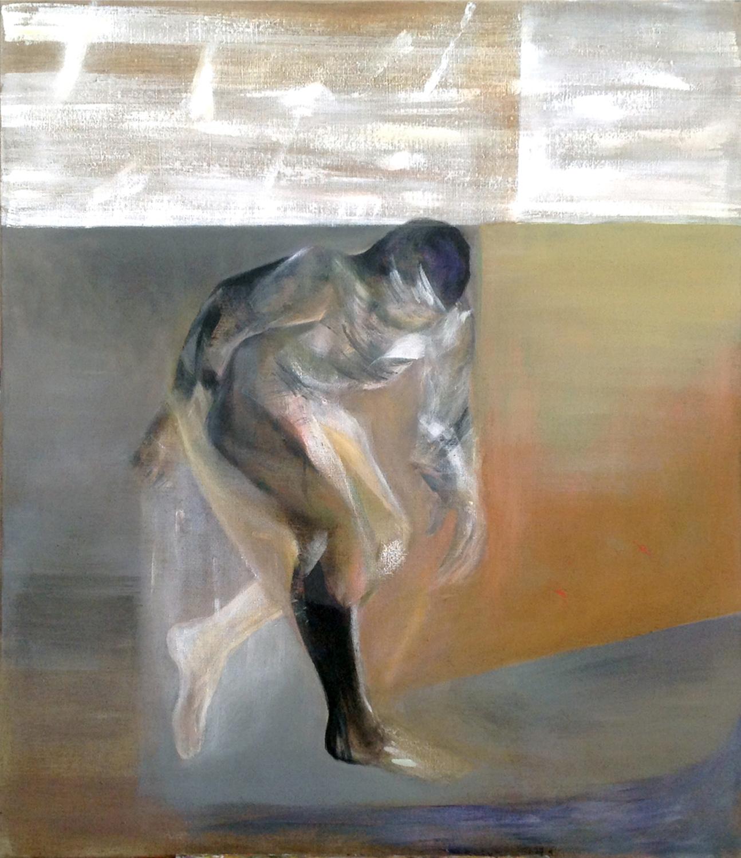 """Magda Limbach, """"Pójdziesz gdzie nie chcesz"""", akryl na płótnie, 100 x 120 cm, 2014, cena: 3700 zł"""