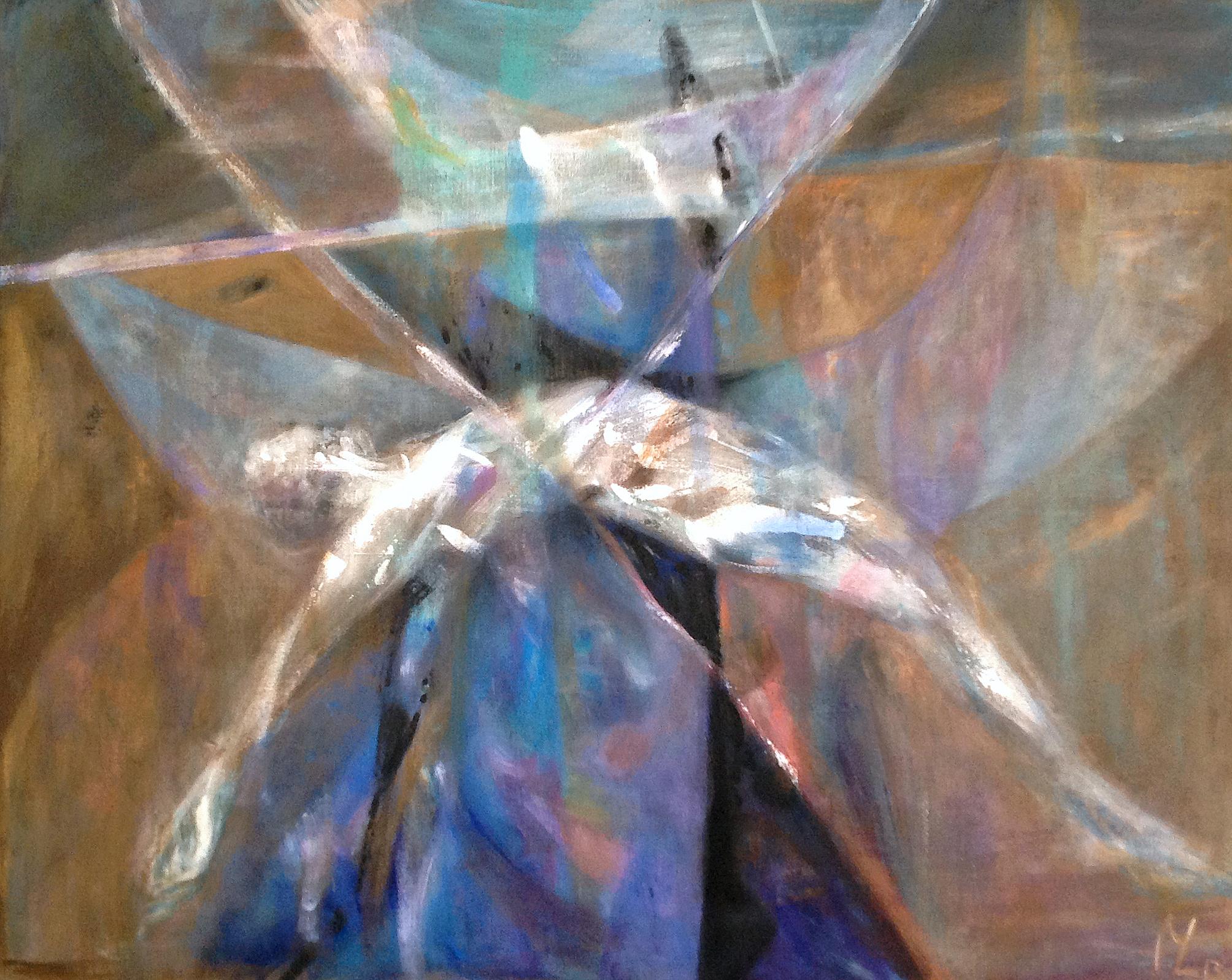 """Magdalena Limbach, """"Most"""", akryl na płótnie, 130 x 150 cm, cena: 4 000 zł"""