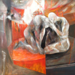 """Magdalena Limbach, """"Wyznania"""", akryl na płótnie, 110 x 130 cm, cena: 4 000 zł"""