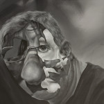 Izabela Liżewska, Bez tytułu, akryl na płótnie, 70x70 cm, 2014, cena 3900zł